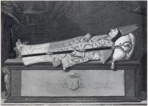 Doodsportret Johannes Baptista van Neercassel (1623-1686), bisschop van Castoriën