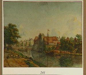 Gezicht vanaf de Weerdsingel Westzijde te Utrecht op het bastion Morgenster