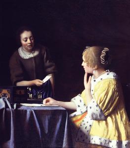 Vrouw en dienstmeid