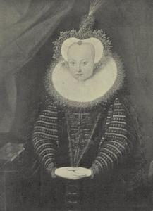 Portret van Sophie Sophie von Brandenburg. Kurfürsten von Saksen (1568-1622)