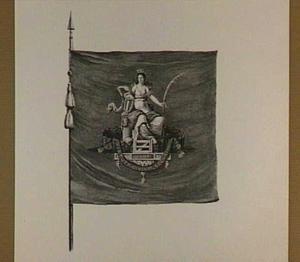 Vaandel met allegorie op de bescherming van de stad Dordrecht