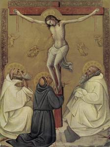De kruisiging met de HH. Romuald, Franciscus en Benedictus