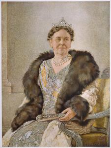 Portret van Koningin Wilhelmina (1880-1962)