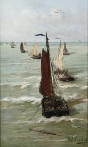 Het vertrek van de vissersvloot