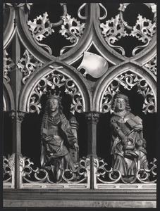 Man van Smarten met Maria en de H. Catharina omringt met veertien heiligen