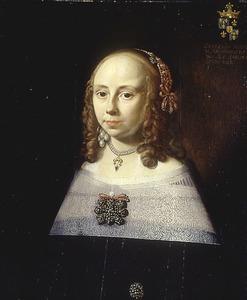 Portret van Geertruida Alberda (1627-1665), echtgenote van Joan Lewe
