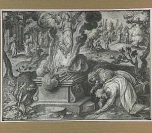 Het offer van Manoach (Richteren 13:20)