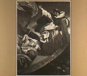 Thomas van Aquino predikend tijdens een storm