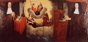 Portret van Allegonda Voet (1666-....) en Helena Voet (1655-....)