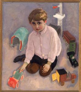 Portret van Rob, met speelgoed