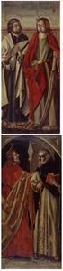 Twee apostelen: HH. Mattheus en Simon (voorzijde); Twee apostelen: HH Bartholomeus en Jacobus Minor (achterzijde)