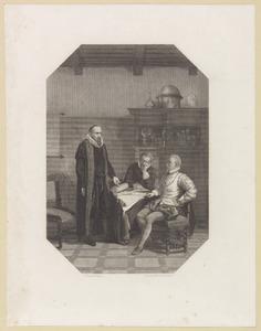 Johan van Oldenbarnevelt (1547-1619) en Robert Dudley, graaf van Leicester (1532-1588)