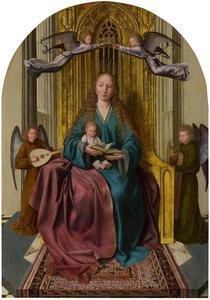 Tronende Maria met kind, door twee engelen gekroond
