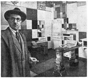 Piet Mondriaan in zijn atelier, 26 Rue du Départ
