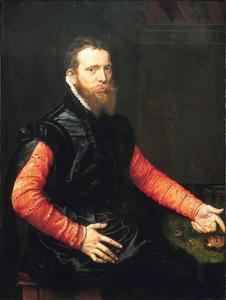 Portret van een man, mogelijk Steven Cornelisz. van Herwijck (1529-1570)