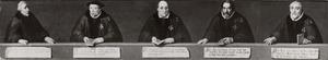 De laatste 5 commandeurs van de orde van St. Jan te Haarlem