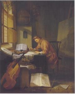De architect in zijn studio