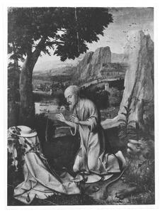 De boetende H. Hieronymus in een landschap