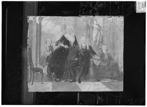 Portret van de familie van Dirk Semeyn van Loosen (1696-1757)
