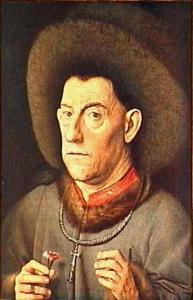Portret van een onbekende man met een anjer