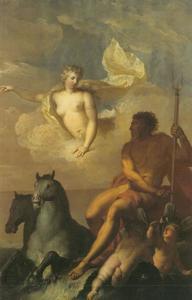 Venus verzoekt Neptunus de golven van de zee te kalmeren tijdens Aeneas overtocht van Carthago naar Italië