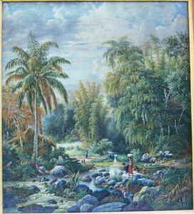 Landschap bij Singosari nabij Malang, Java