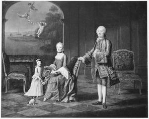 Portret van Joan Gualtherus van der Poort (1713-1786), Johanna Suzanna van der Mandere (1714-1793) en Johanna Petronella van der Poort (1754-1783)