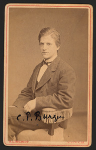 Portret van Combertus Pieter Burger (1855-1892)