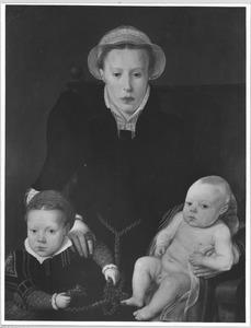 Anna van Hertsbeeke (1538-1594) en haar dochter Catharina van Santvoort (1561-1594) en zoon Jan Baptiste van Santvoort (1563-....)