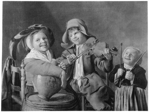 Drie musicerende kinderen