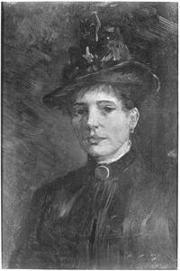 Portret van een vrouw met een hoed