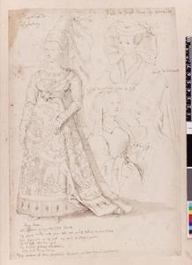 Studie van Jacqueline van Luxemburg, Anne van Jauche, Philippa van Lalaing en Bonne van la Vieuville
