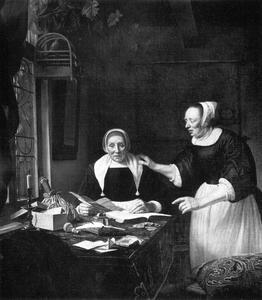 Portret van Sara Antheunis (?-?) met een vrouw, mogelijk Maria Muijser