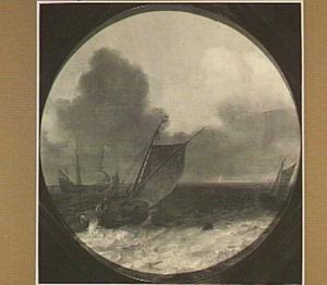 Boeier en andere schepen een uitgestrekt water