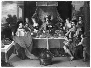 Het eten en drinken van koning Midas verandert in goud