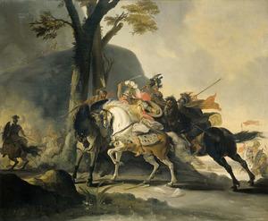 Alexander de Grote in de slag tegen de Perzen bij de Granikos