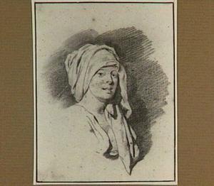 Kop van een jonge vrouw, naar rechts