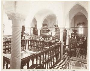 Interieur van het winterverblijf van familie van der Poorten Schwartz te Algiers