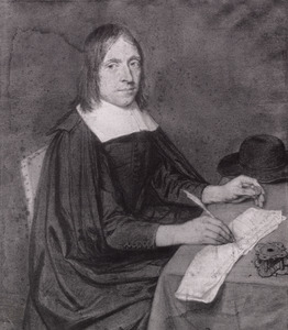 Portret van predikant en oudheidkundige Johannes Smetius Jr. (1636-1704)