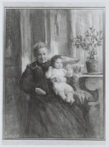 Portret van Alida Maria Pruys van der Hoeven (1827-1917) en Sonja Aleida Maria van der Hoop (1909-1977)