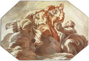 Mozes ondersteund door Aäron en Ur (Exodus 17:10-12)