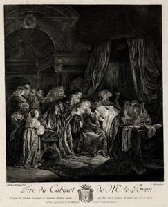 David troost de om hun gestorven oudste zoon treurende Batseba (2 Samuël 12:24)