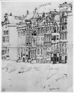 Gezicht op een aantal panden aan het Rokin ter hoogte van Arti et Amicitiae te Amsterdam