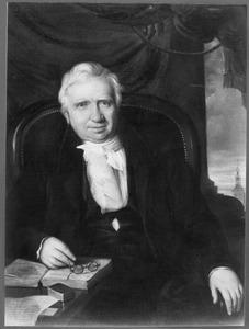 Portret van Mathijs Eliza Verstege, inspecteur der beschreven en onbeschreven middelen in het Departement Brabant 1809, 1819 gepensioneerd als provinciaal inspecteur der invoerrechten en accijnzen te 's Hertogenbosch