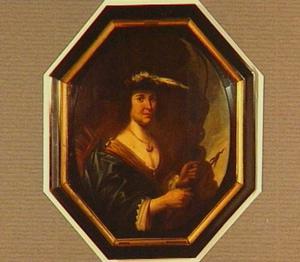 Portret van een onbekende vrouw als de perzische prinses Granida
