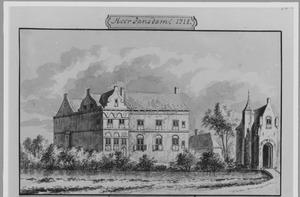 Linker- en voorzijde van Heerjansdam bij Dordrecht