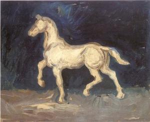 Studie van een gipsen paard