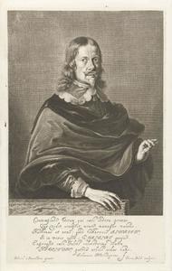 Portret van Johannes Hevelius ( (1611-1687)), astronoom en burgemeester van Danzig