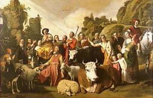 God verschijnt aan Abram [ Abraham] te Sichem (Genesis 12:1-3)
