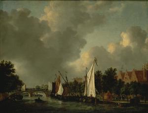 De Prinsengracht bij de Reesluis in Amsterdam